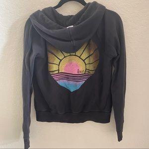 VS PINK hoodie black Sz L